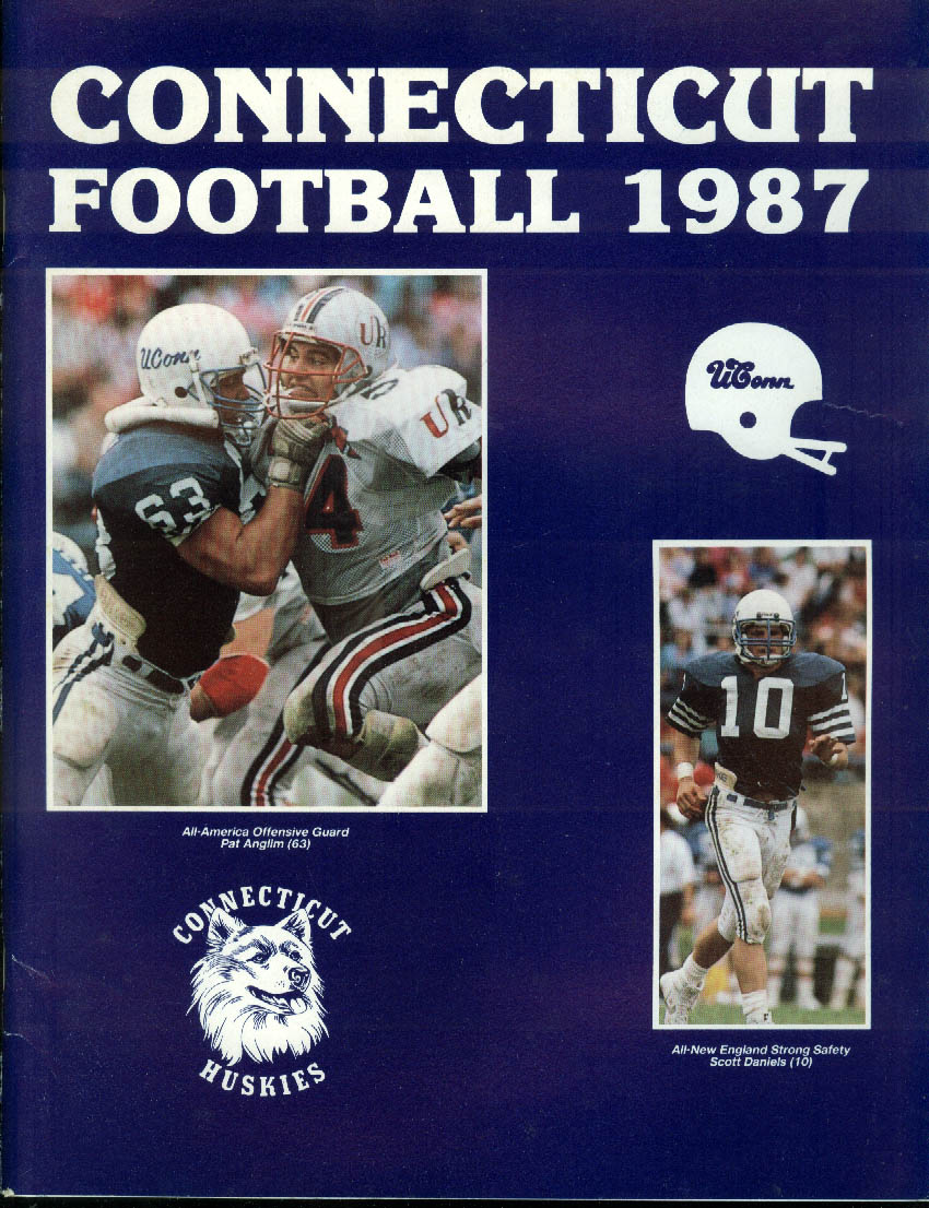 University of Connecticut Football Media Guide 1987