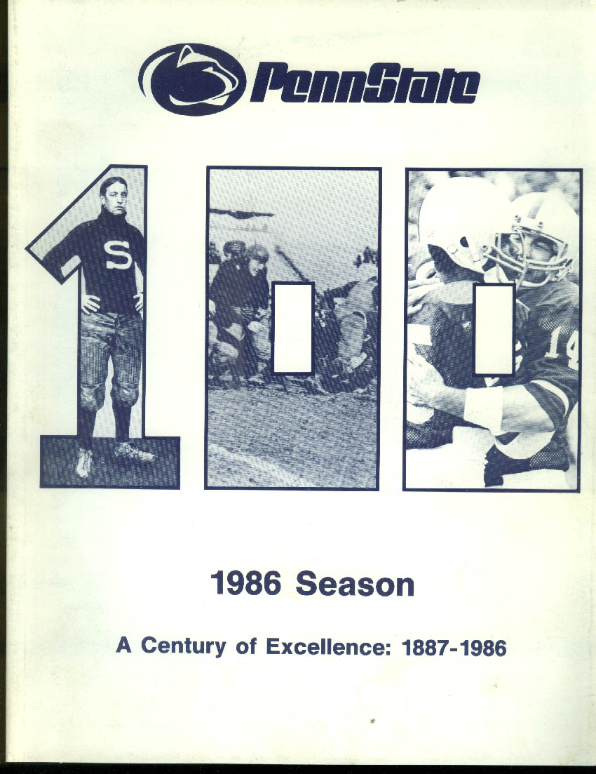 Penn State Media Guide 1986 Century of Excellence
