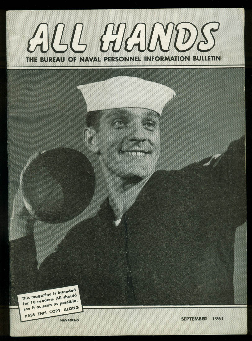 ALL HANDS Navy Bulletin 9 1951parachutes; USS Joy; ZPN Blimp