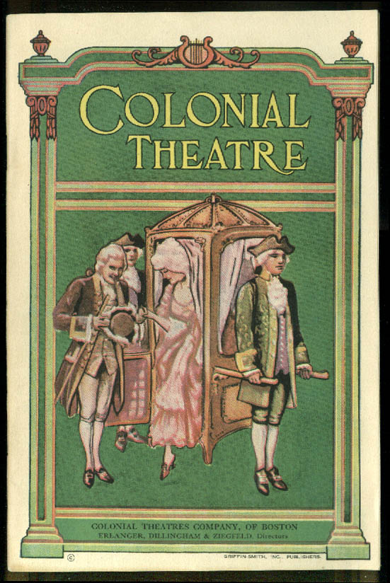 Colonial Theatre Boston Playbill Marilyn Miller Sunny 1927 Kern Hammerstein