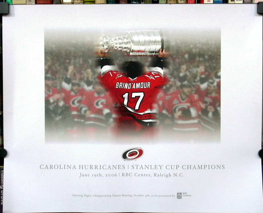 Carolina Hurricanes Stanley Cup Champions 2006 poster Brind'Amour