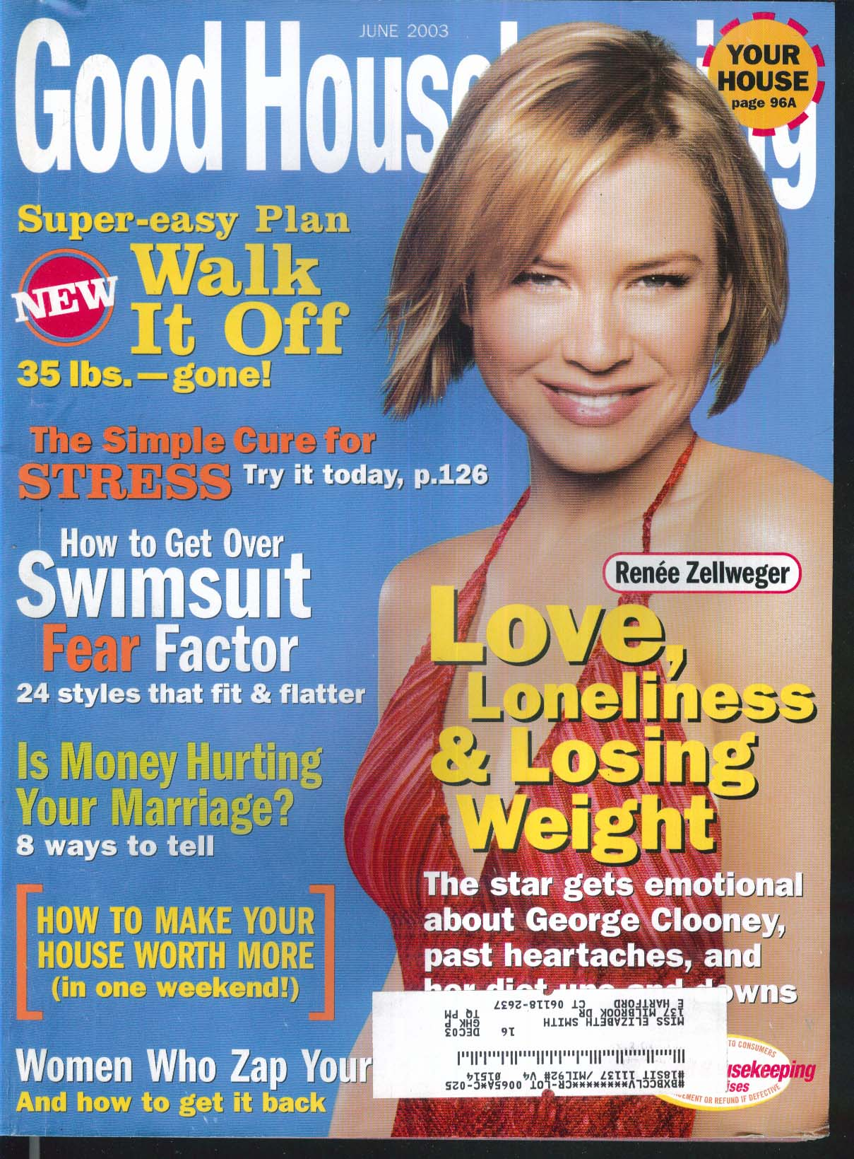 GOOD HOUSEKEEPING Renee Zellweger George Clooney William Petersen + 6 2003