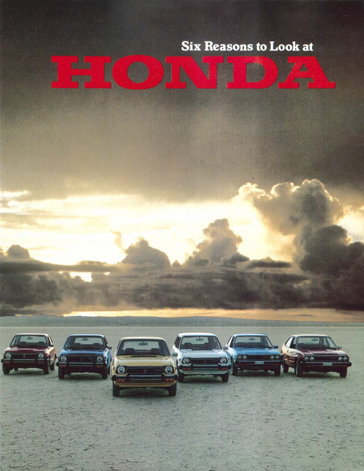 1978 Honda full-line sales brochure: Civic 1200 CVCC Wagon Accord LX etc