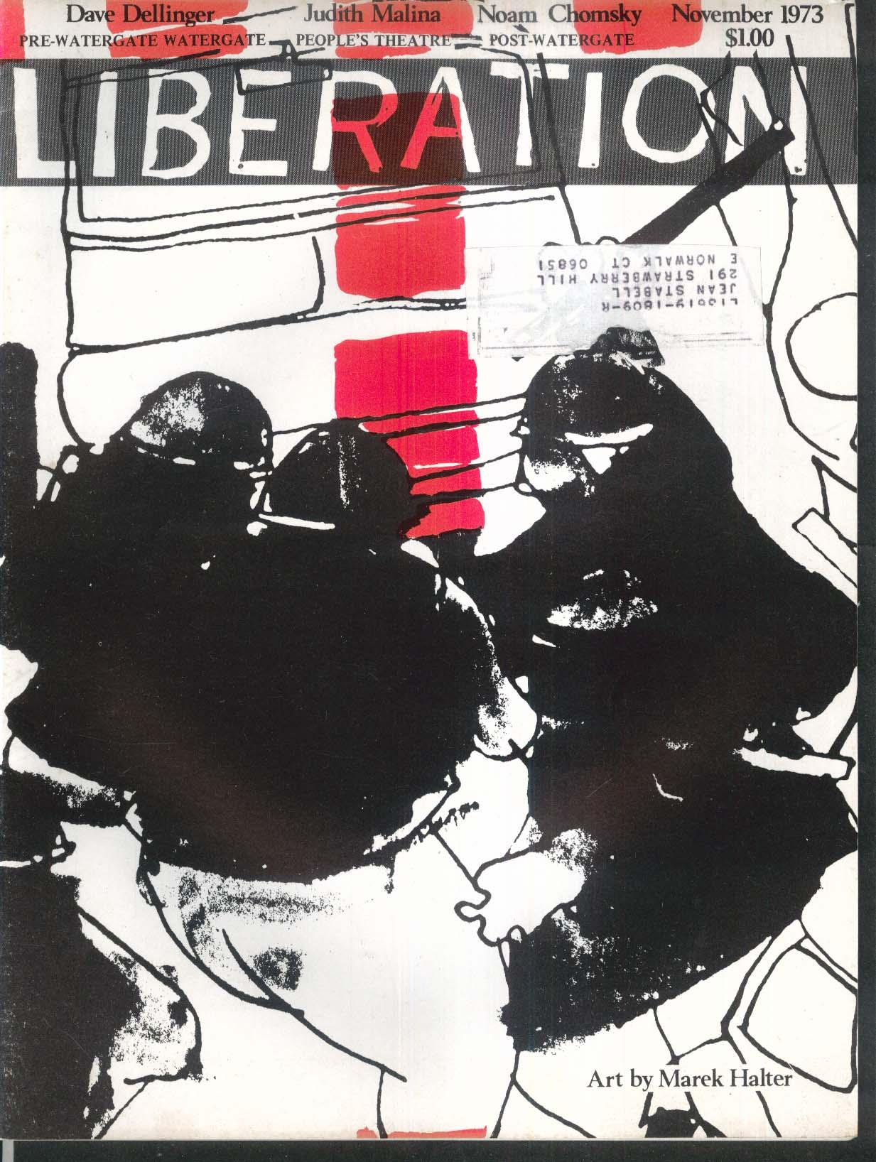 LIBERATION Watergate Dave Dellinger Judith Malina Noam Chomsky 11 1973