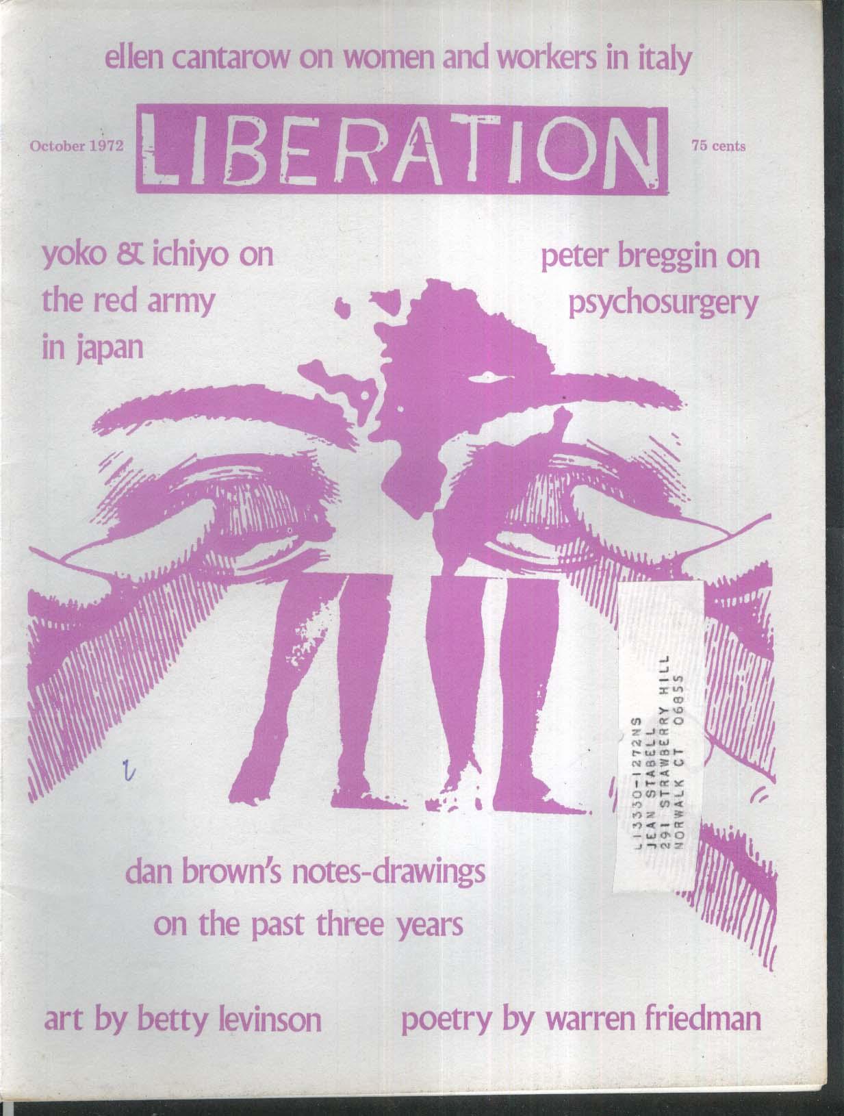 LIBERATION Peter Breggin Psychosurgery Kitazawa Yoko Muto Ichiyo 10 1972