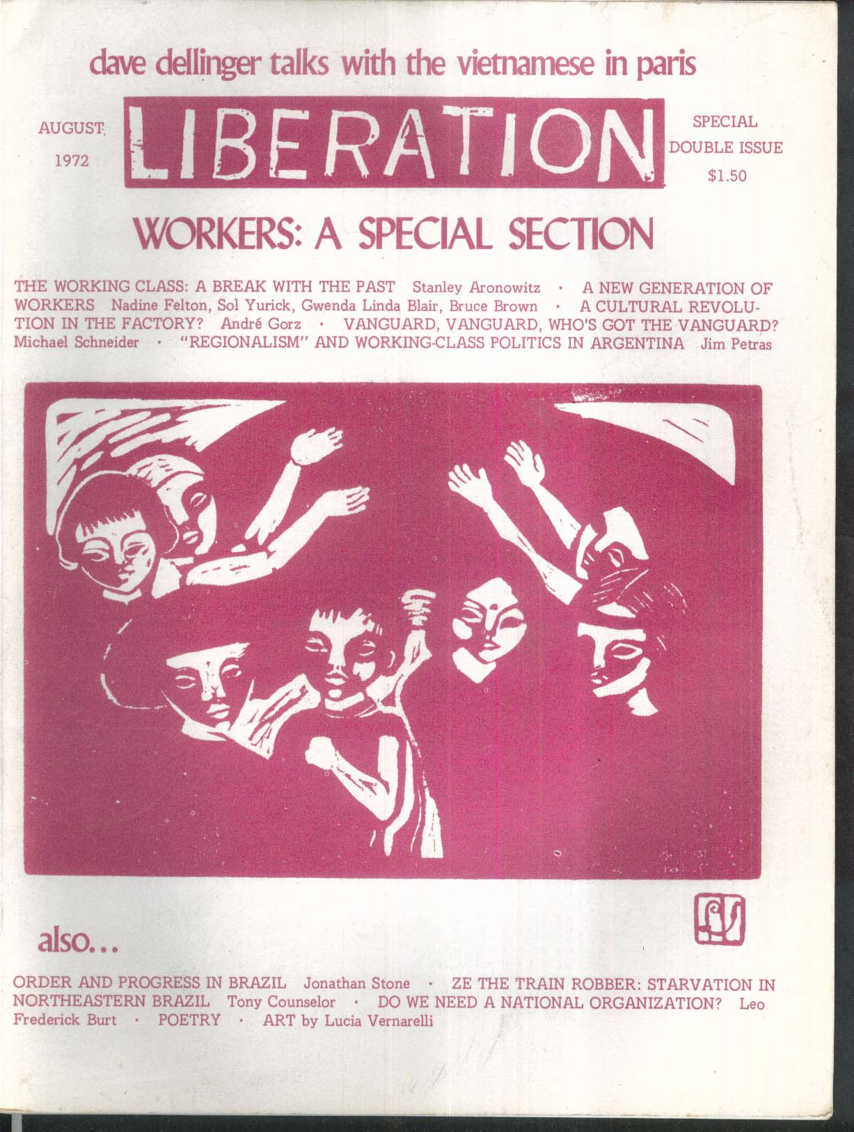 LIBERATION Dave Dellinger Stanley Aronowitz Sol Yurick Argentina Brazil 8 1972