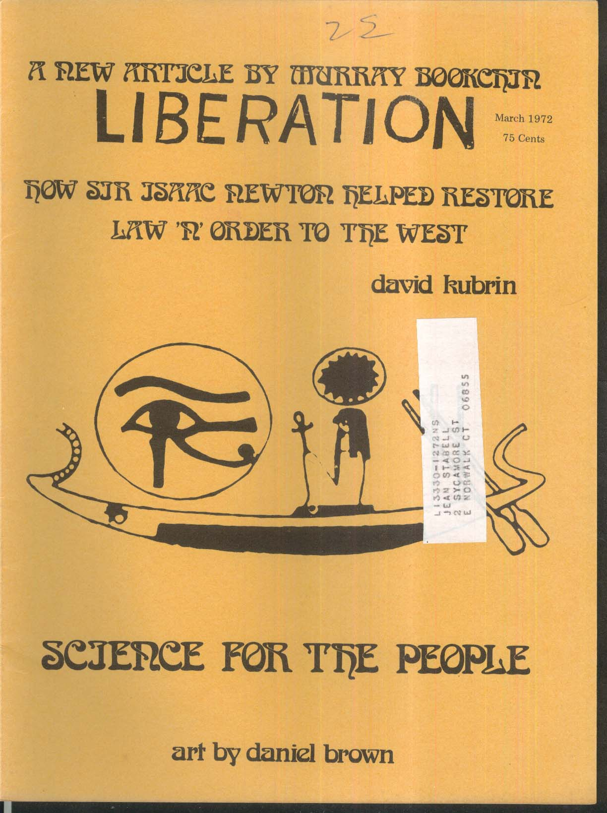 LIBERATION Murray Bookchin Walter Schneir Karen Swenson 3 1972
