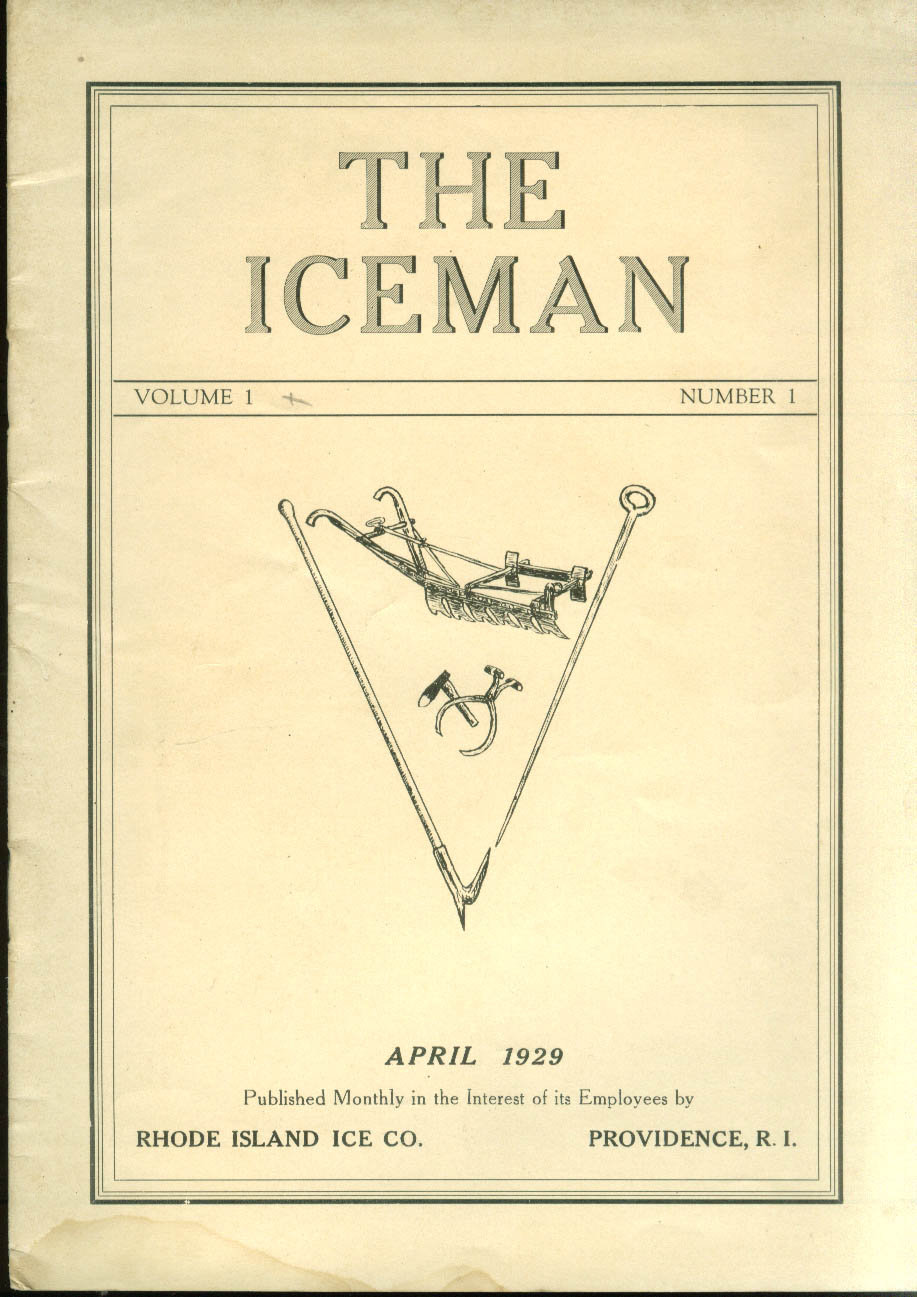 THE ICEMAN Providence Ice Co News 4 1929 Sherwood Woonsocket Divisions