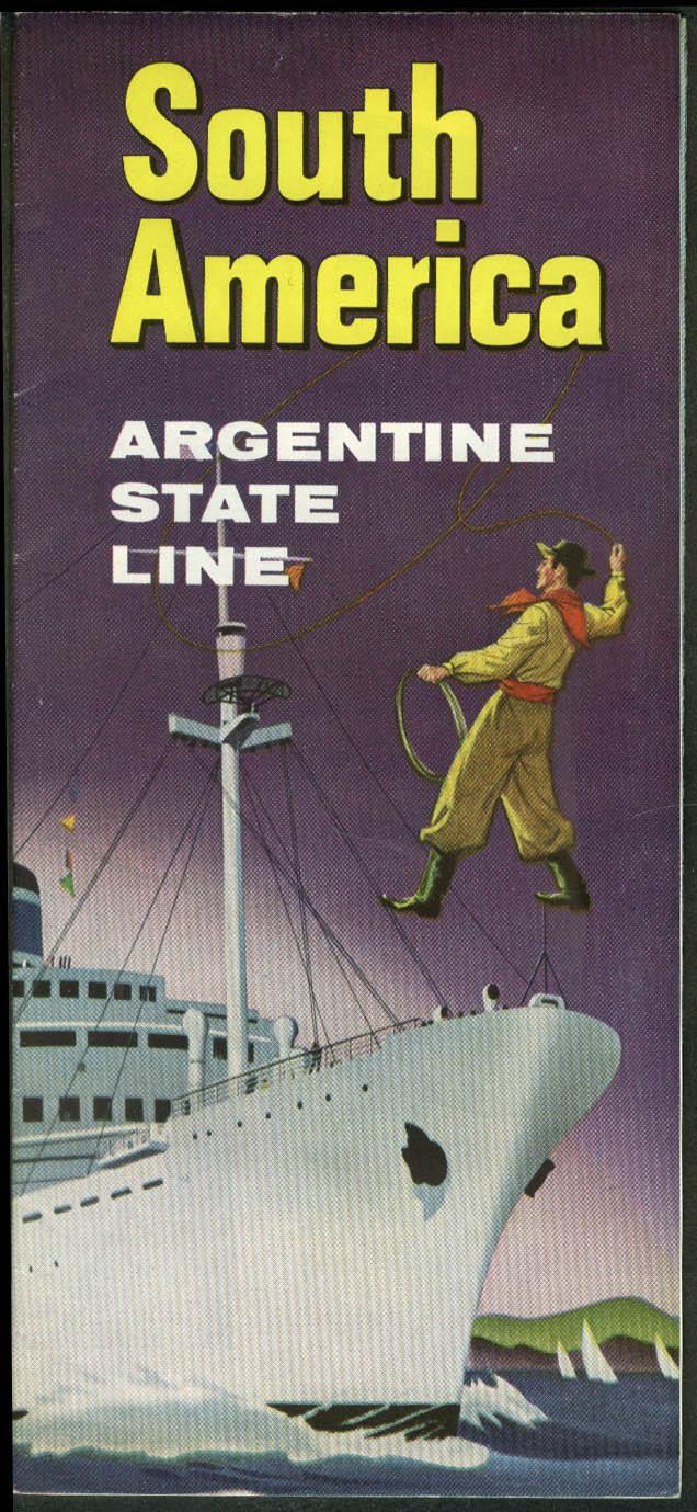Argrentine State Line cargo liner folder 1955