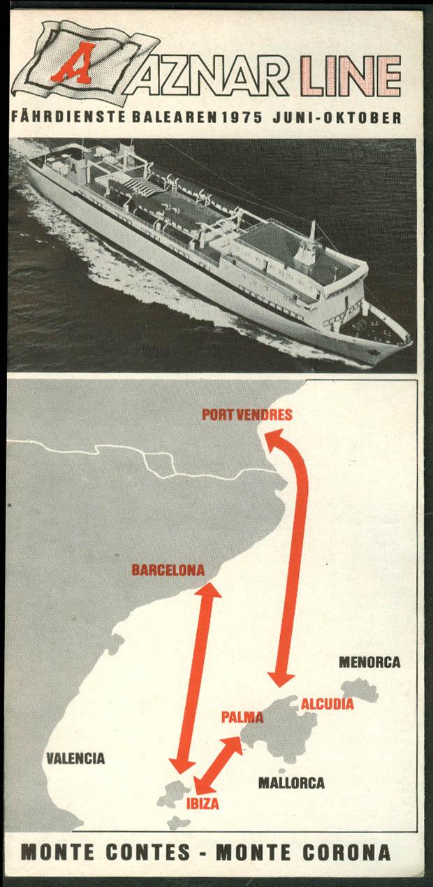 Aznar Line S S Monte Contes Monte Corona cargo liner schedule 1975 in German