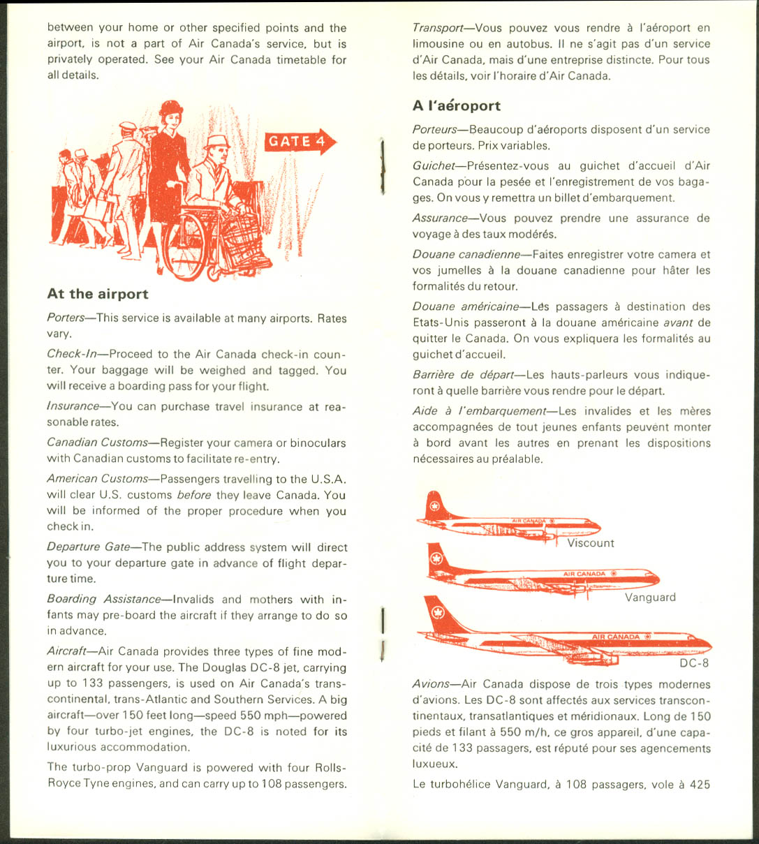 Air Canada Flight Facts Pour Votre Gouverne airline brochure 1965