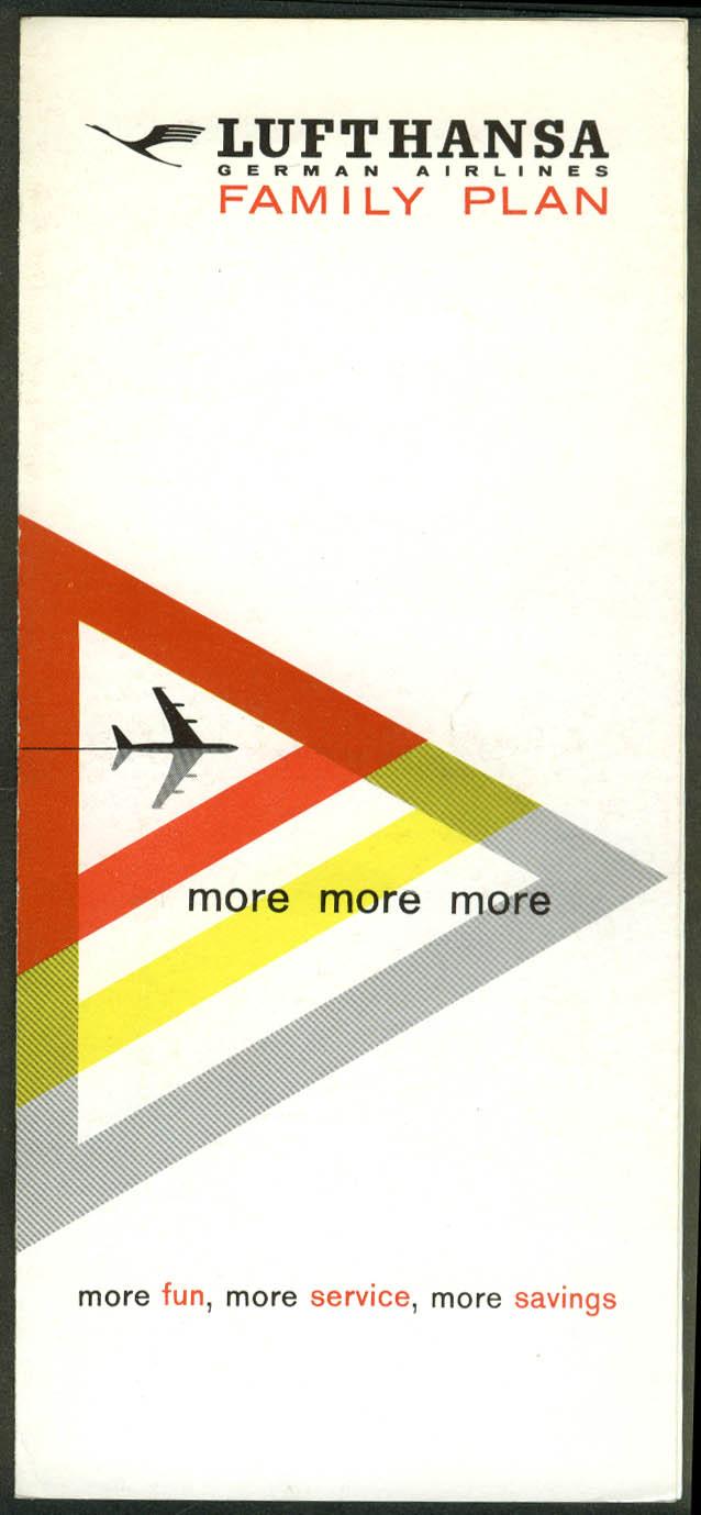 Lufthansa German Airlines Family Pan airline folder 1960