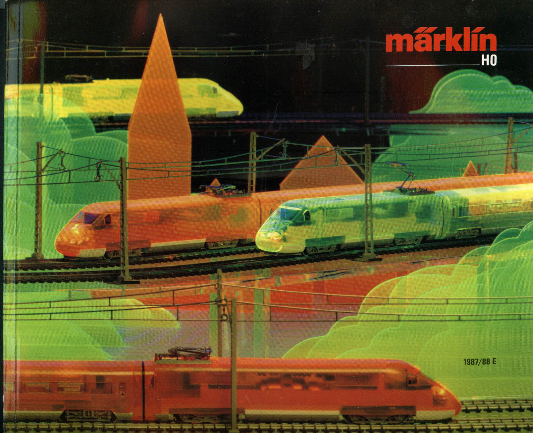 Marklin HO Electric Trains Catalog 1987-1988