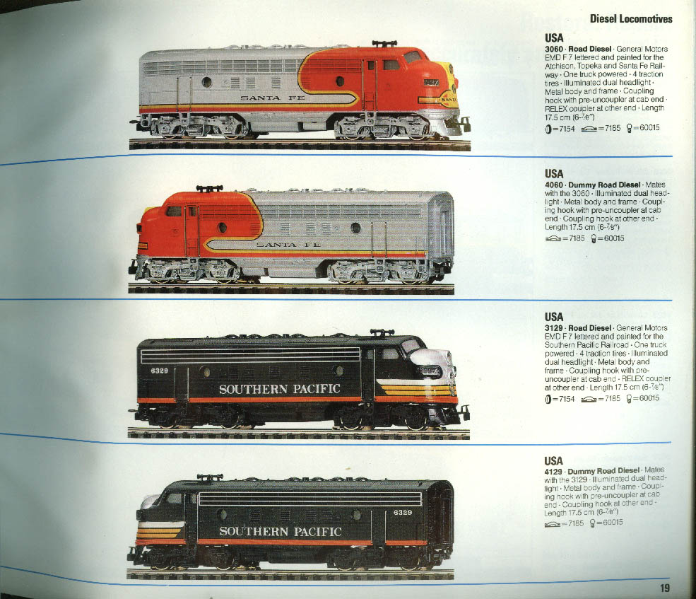 Marklin HO Electric Trains Catalog 1987-1988