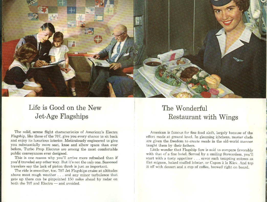 How Jet Progress Benefits the American Airlines Traveler airline folder 1960
