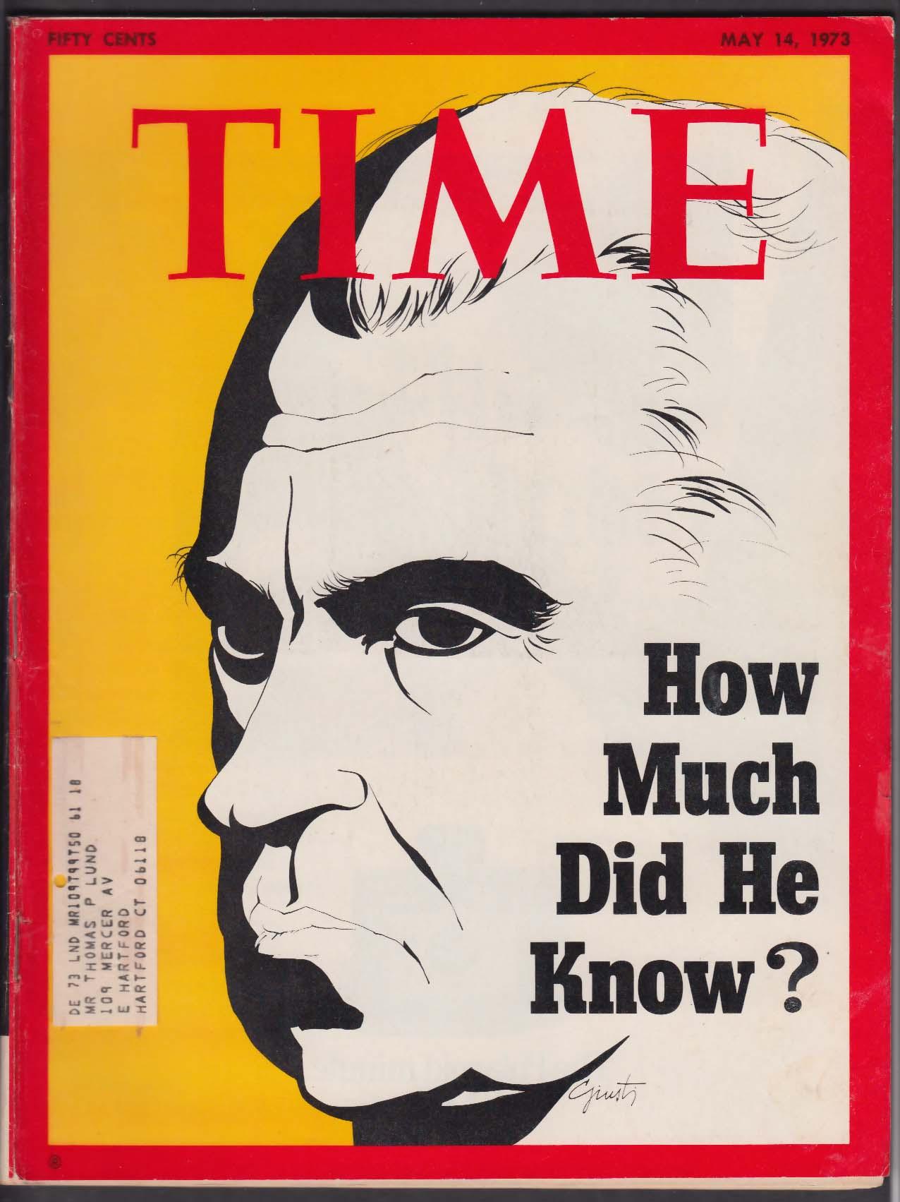 TIME Richard Nixon Watergate Dean Haldeman Erlichman Yasser Arafat 5/14 1973