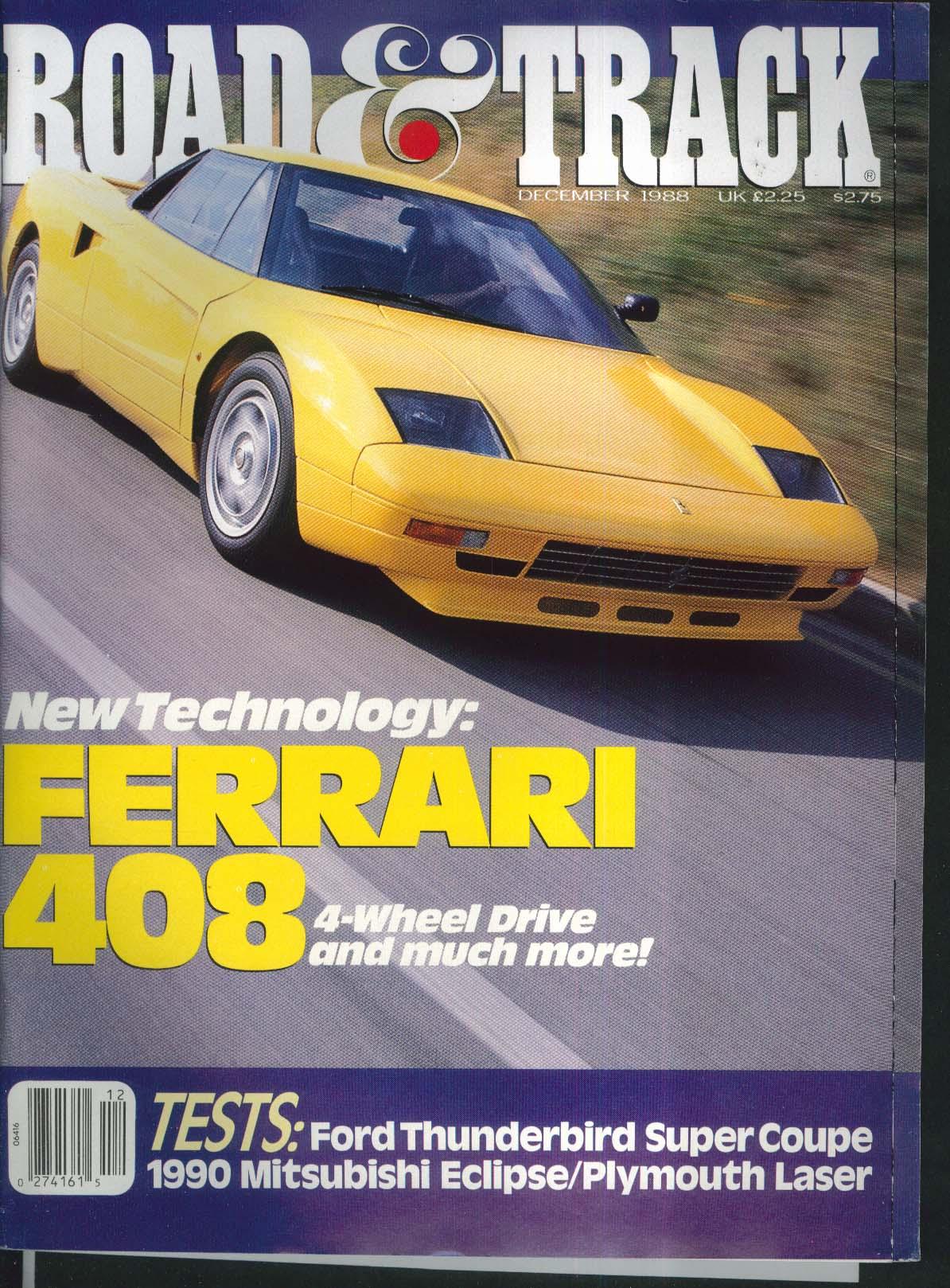 ROAD & TRACK Ferrari 408 Mitsubishi Eclipse Ford