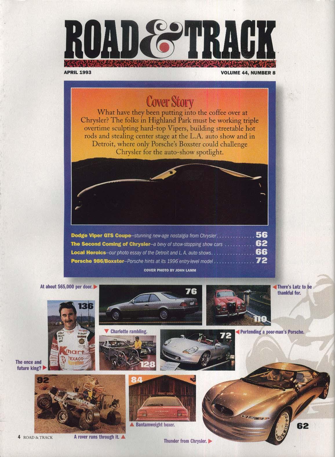 ROAD & TRACK Mercedes-Benz 600SEC Subary Impreza L JPL Rocky IV road test 4 1993