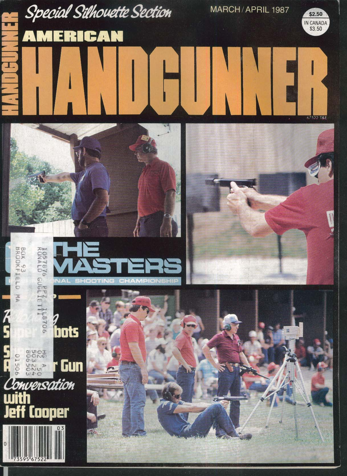 AMERICAN HANDGUNNER Bonanza Co-Ax Press Silhouette .32-20 Jeff Cooper 3-4 1987