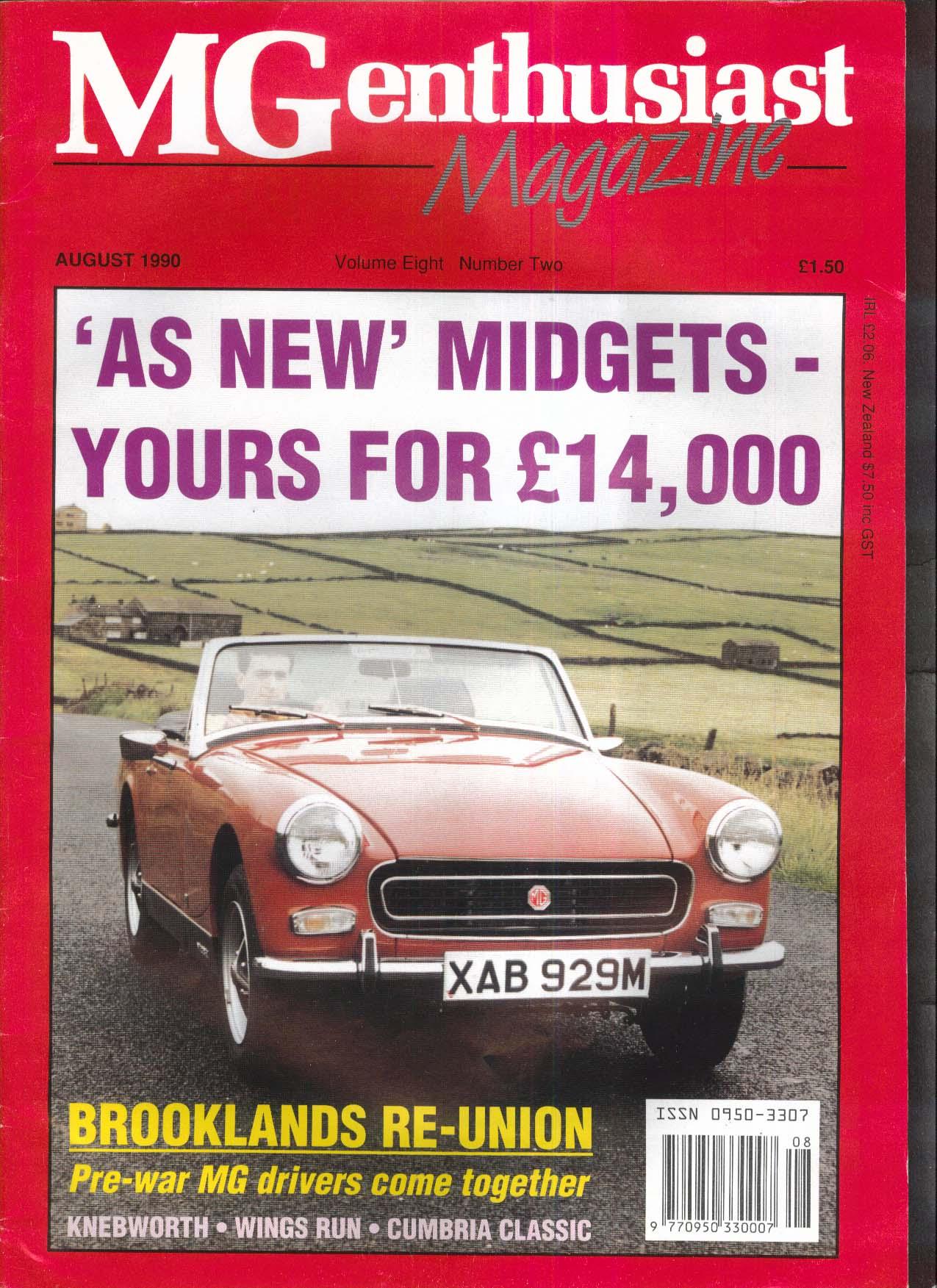 MG ENTHUSIAST Midget Brooklands Knebworth Wings Run Cumbria Classic 8 1990