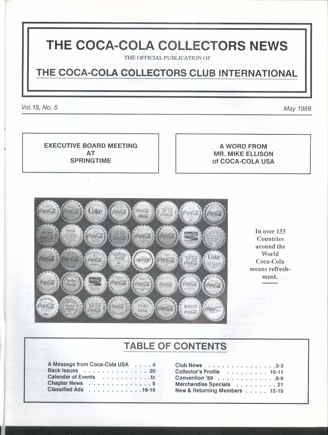 COCA-COLA Collectors News Mike Ellison 5 1989