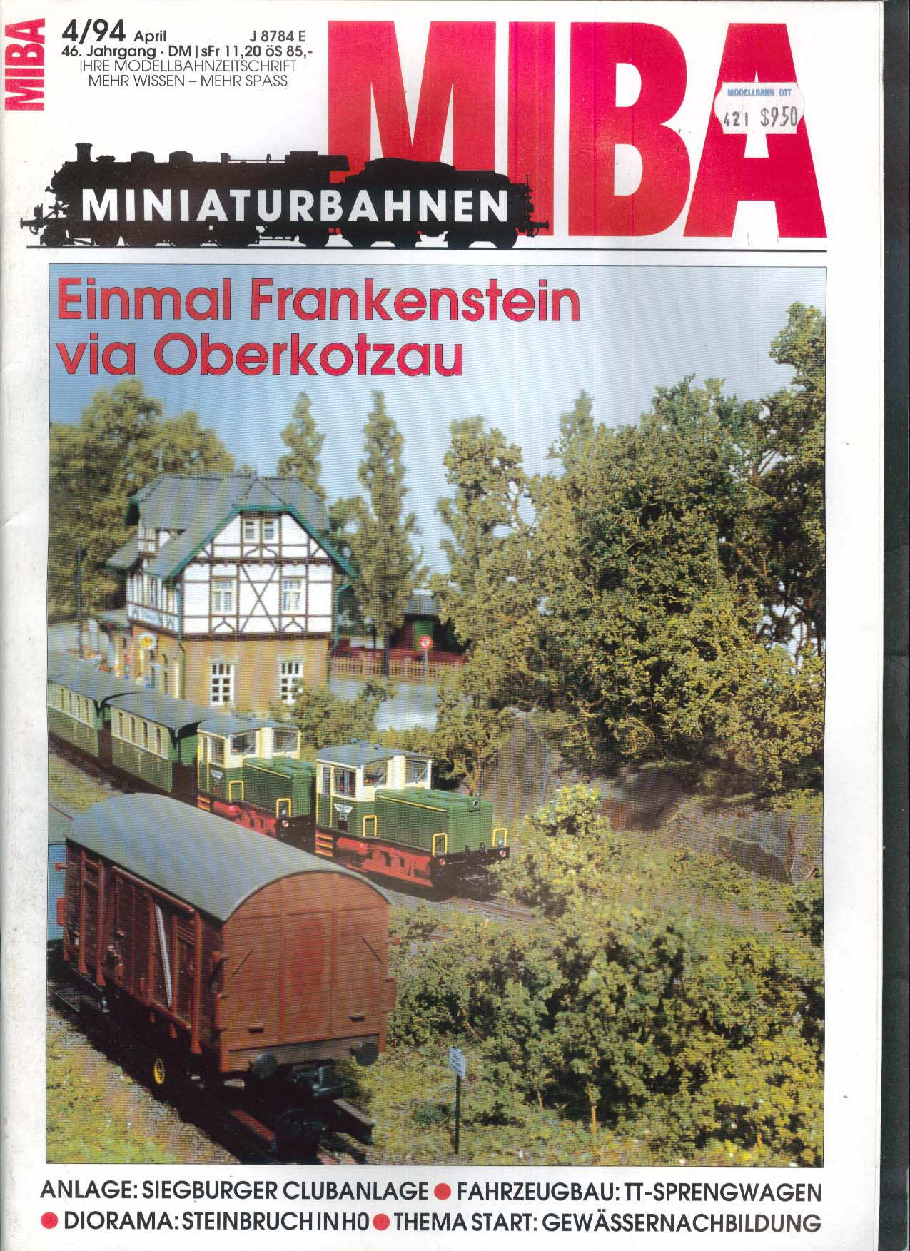 MIBA-Miniaturbahnen German-language model train magazine Fahrzeugbau 4 1994