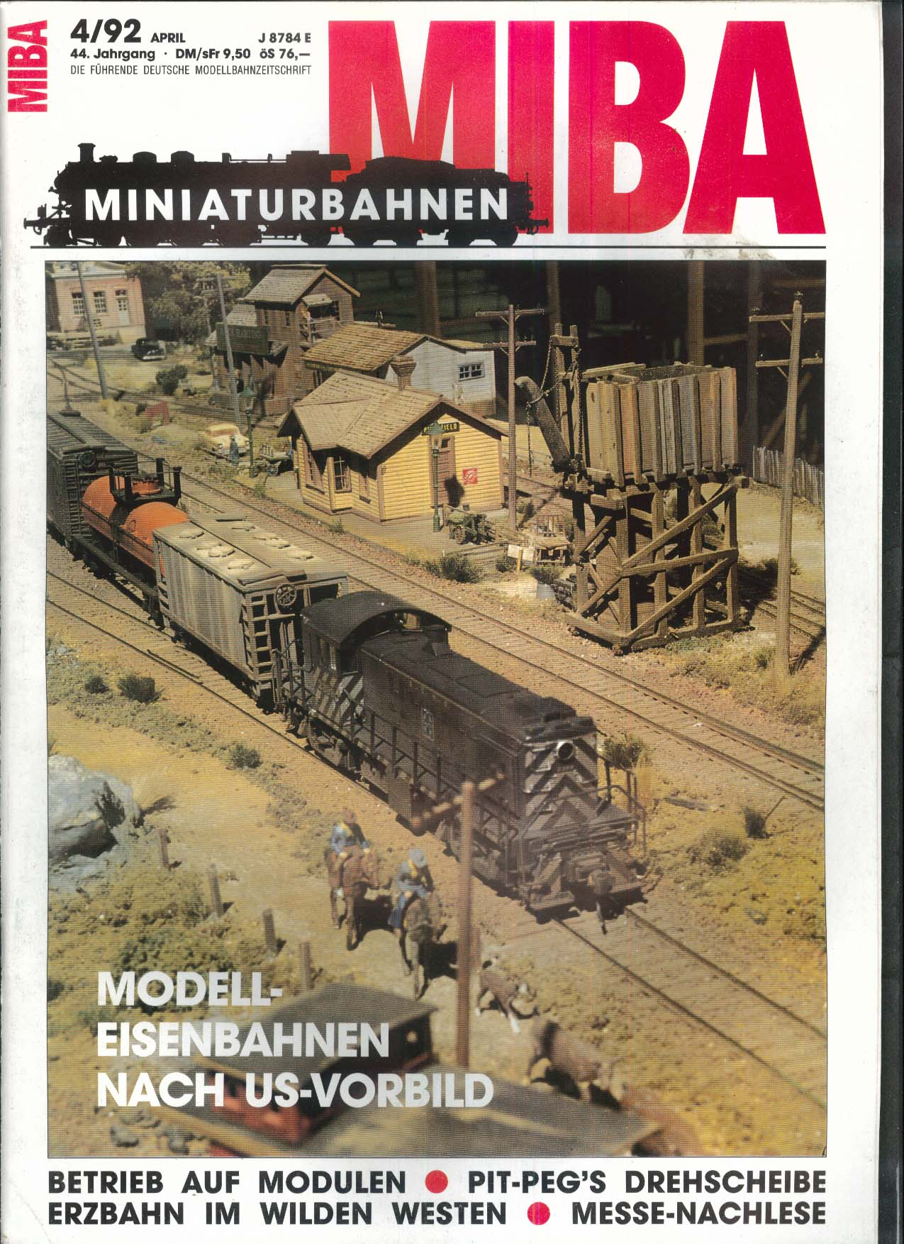 MIBA-Miniaturbahnen German-language model train magazine Eisenbahnen Nach 4 1992