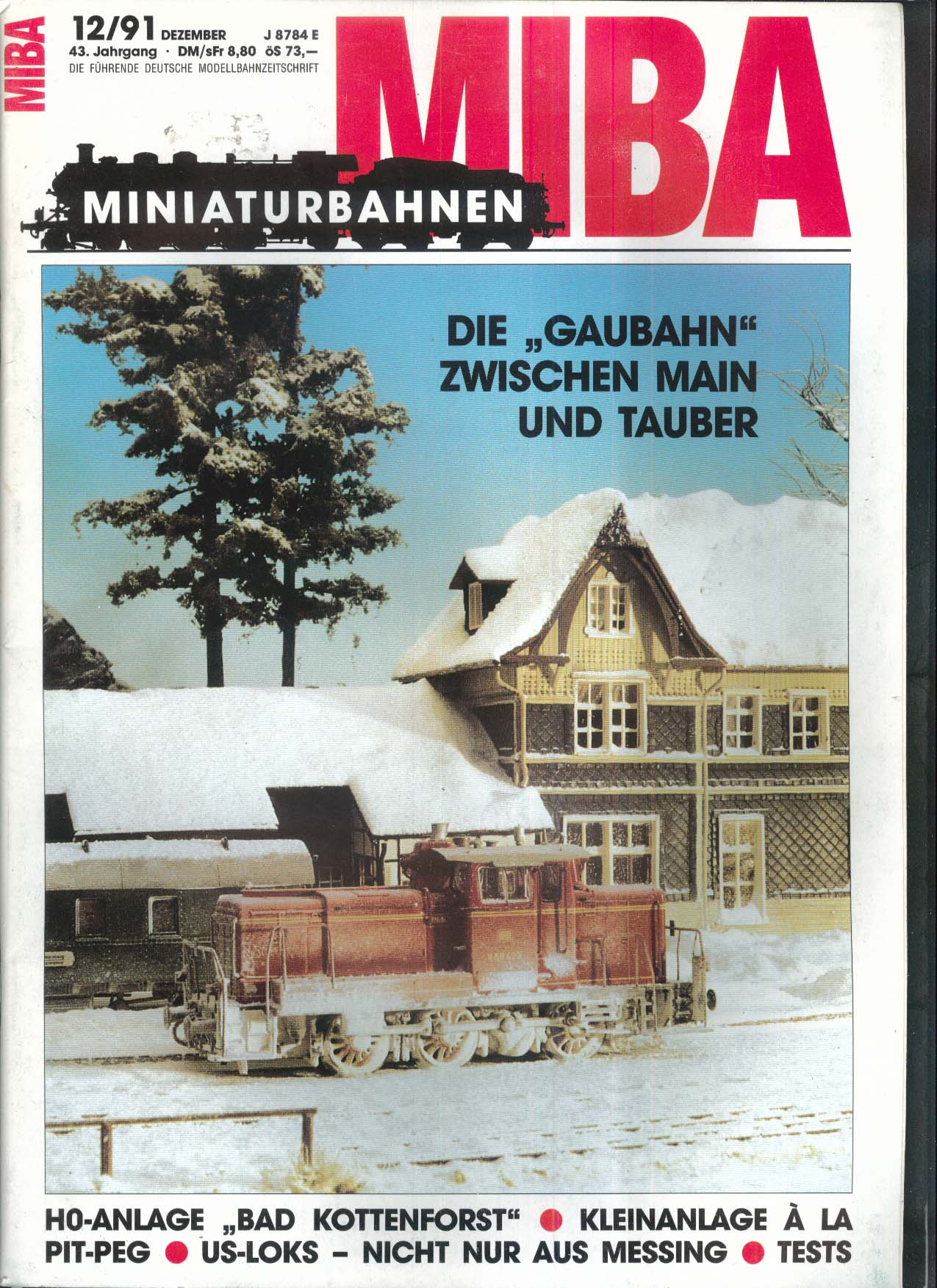 MIBA-Miniaturbahnen German-language model train magazine Gaubahn 12 1991