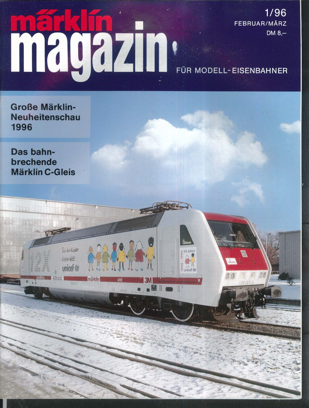 Marklin Magazin Modell-Eisenbahner German-language model train magazine 1 1996