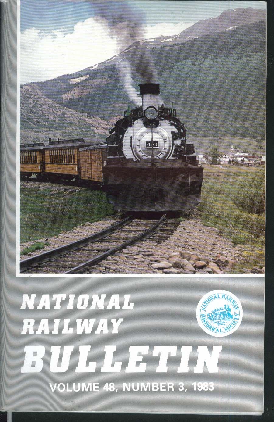 NATIONAL RAILWAY BULLETIN V48n3 Colorado Rails Alco Historic Photo Record 1983