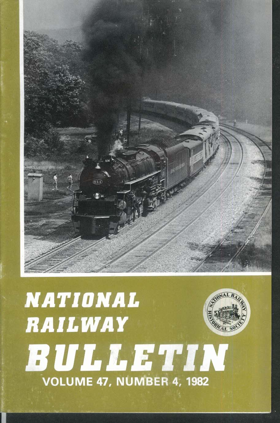 NATIONAL RAILWAY BULLETIN V47n4 Central Vermont Blue Grass Shortline 1982