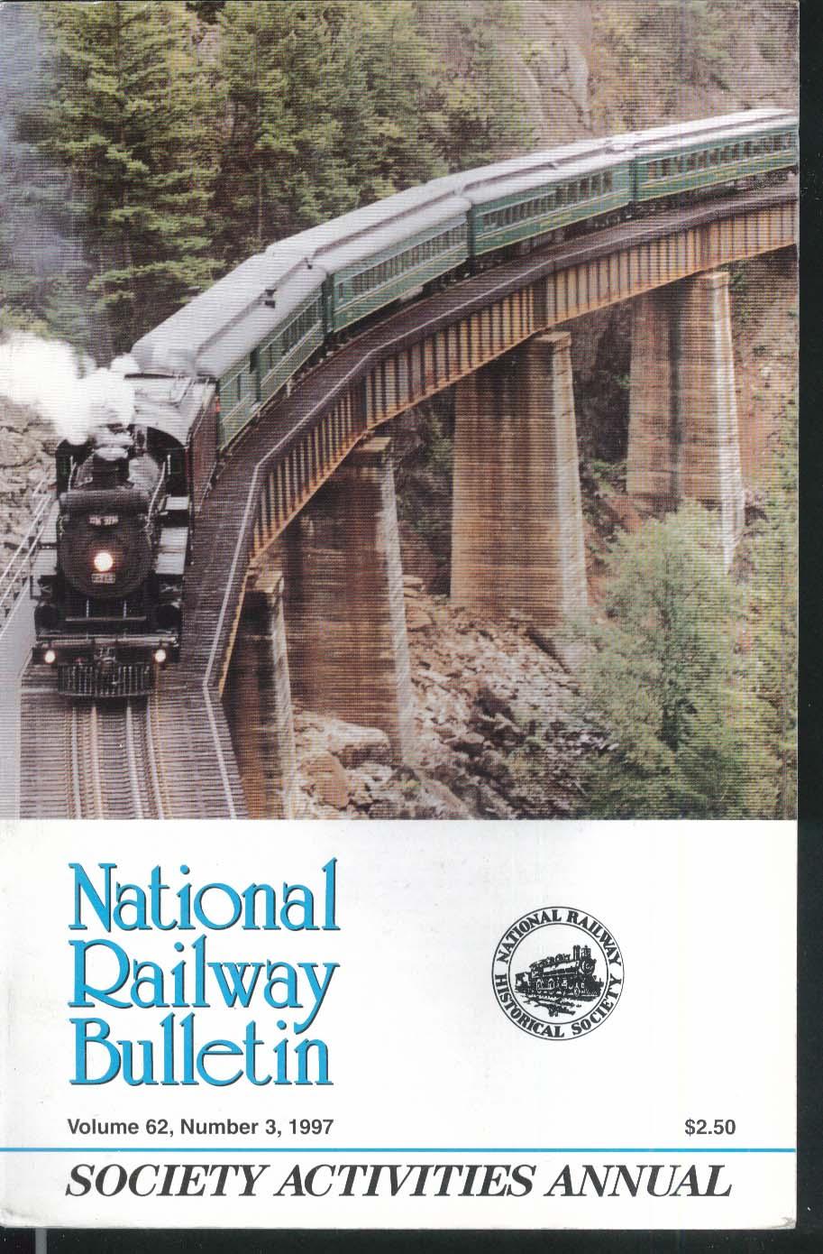 NATIONAL RAILWAY BULLETIN V62n3 Society Activities Annual Alco Historic 1997