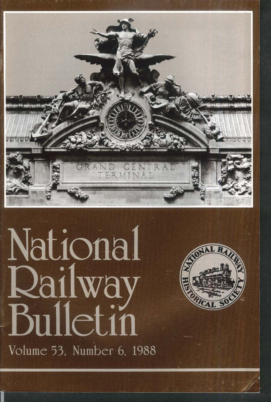 NATIONAL RAILWAY BULLETIN V53n6 Eel River Caltrans Gettysburg Mount Shasta 1988
