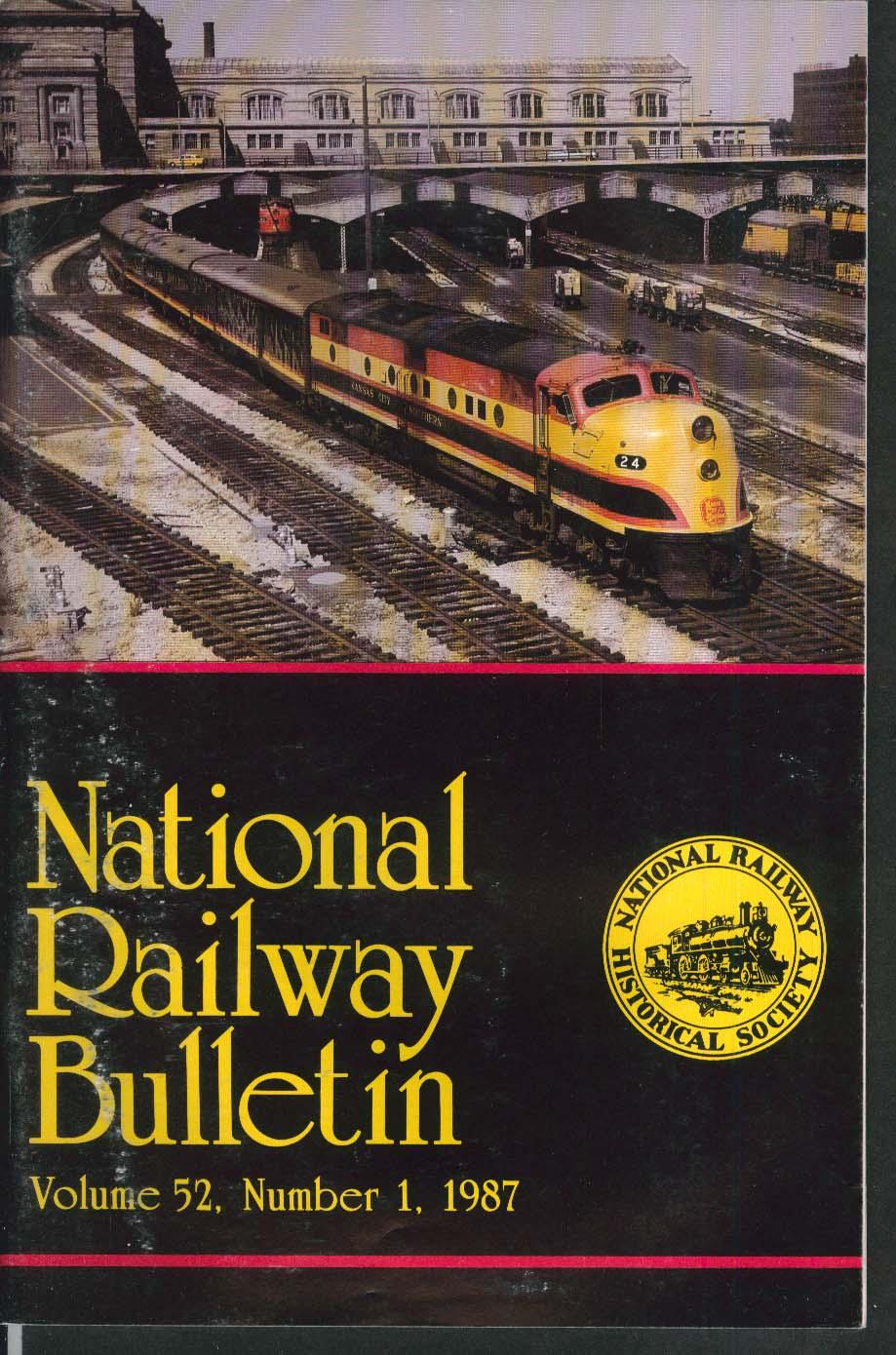 NATIONAL RAILWAY BULLETIN V52n1 Roanoke Chapter St Joseph Valley 1987