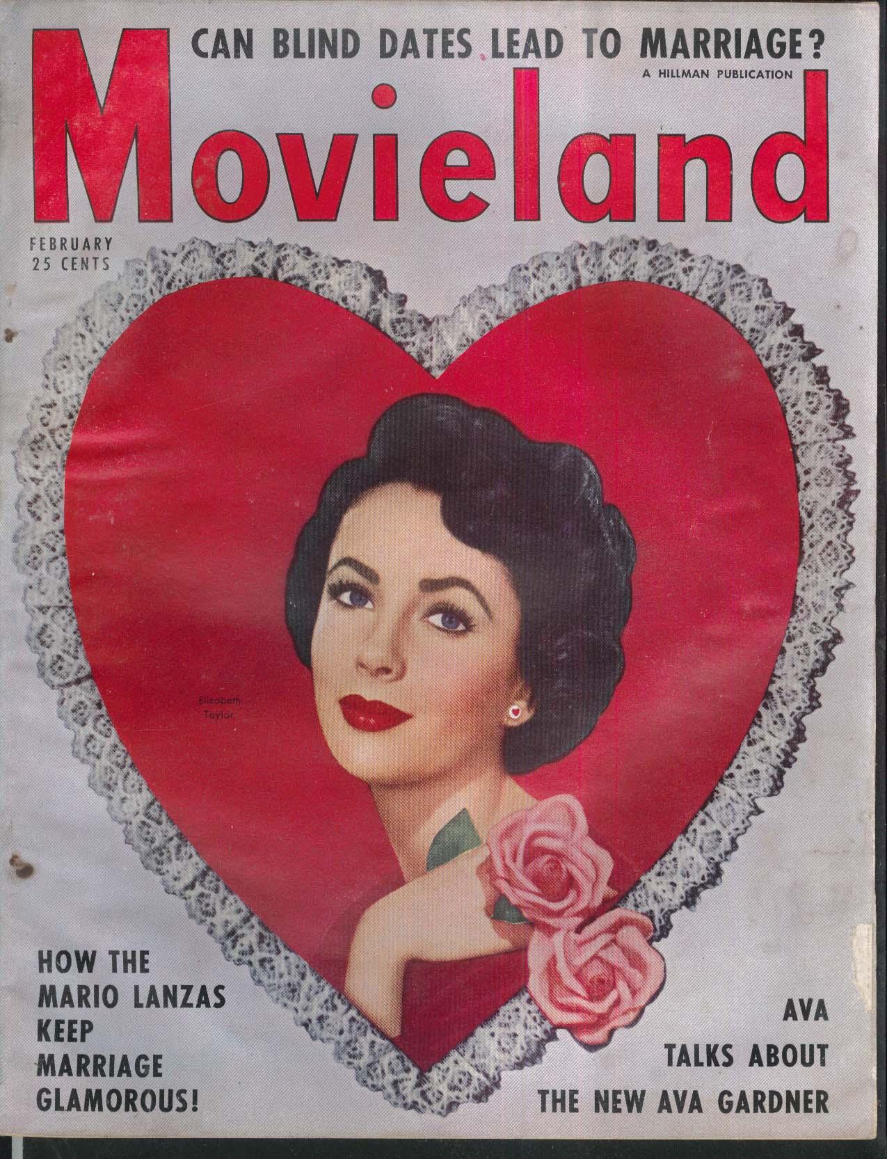 MOVIELAND Elizabeth Taylor Ava Gardner Mario Lanza 2 1951