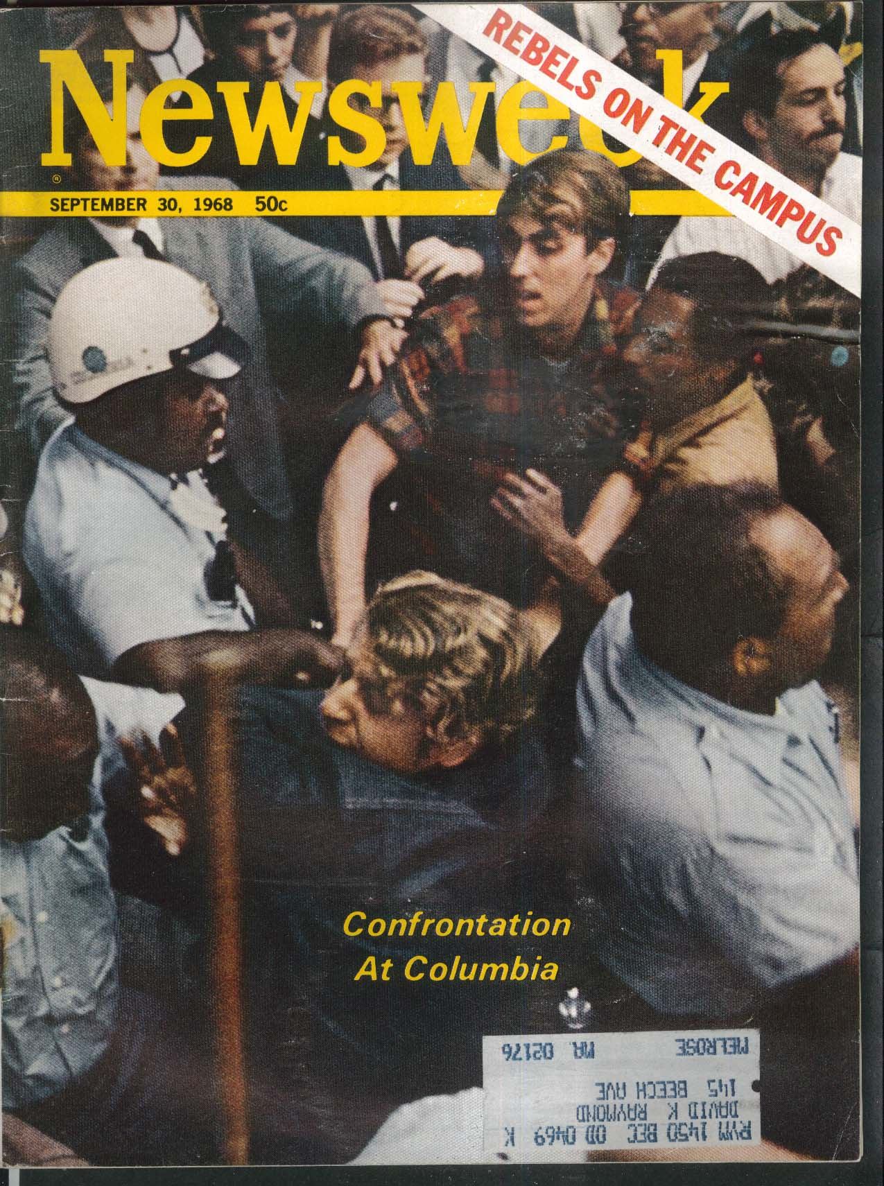 NEWSWEEK Columbia Campus Confrontation George Wallace Vietnam Nixon 9/30 1968
