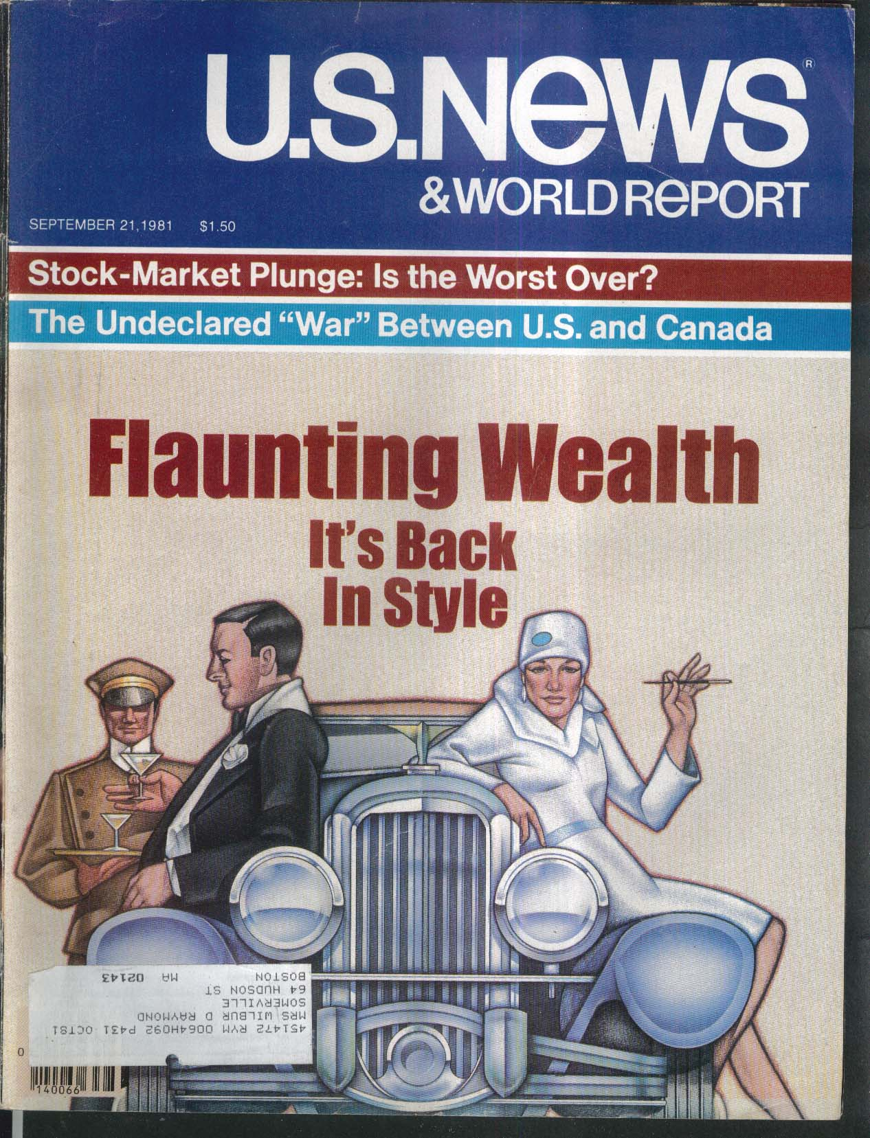 US NEWS & WORLD REPORT Stock-Market Plunge Ronald Reagan Israel 9/21 1981