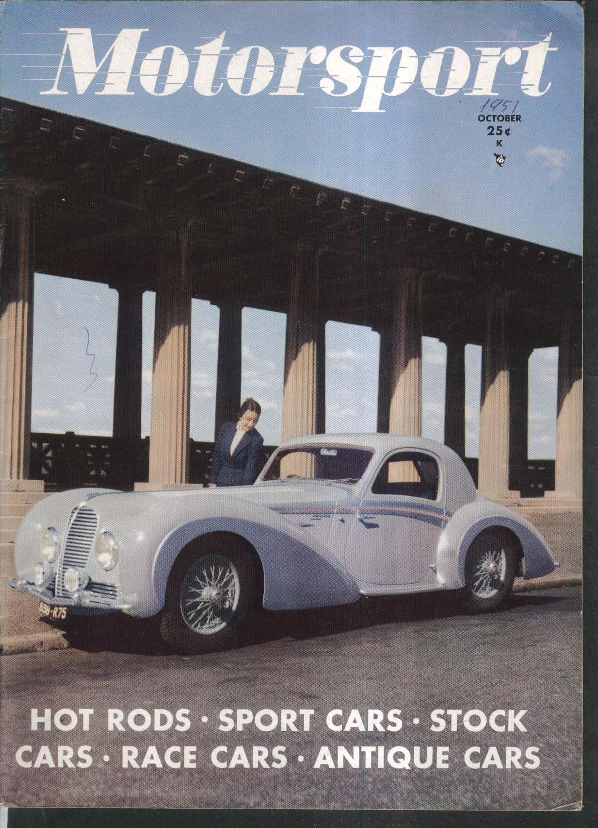 MOTORSPORT Studebaker SCCA Proving Grounds; Rambler Rally; GM Le Sabre 10 1951