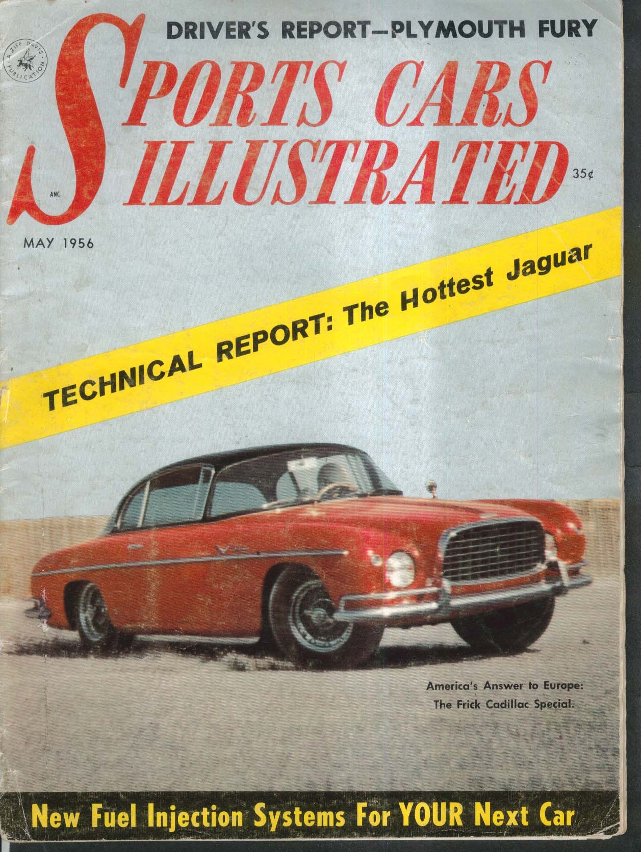 SPORTS CARS ILLUSTRATED Corvette Alfa Romeo Giulietta road tests 5 1956