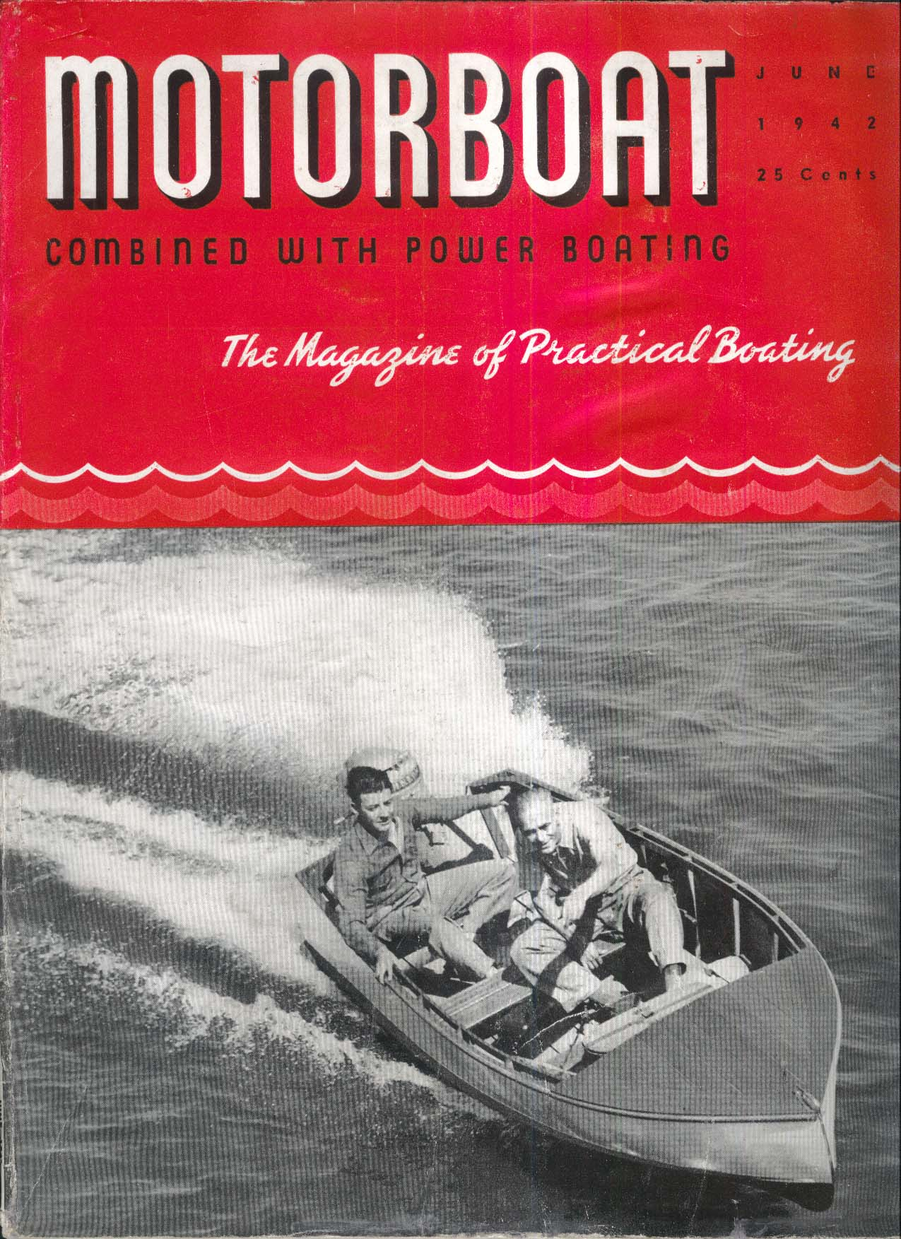MOTORBOAT Gas Rationing CLR Engine Room Safety 6 1942