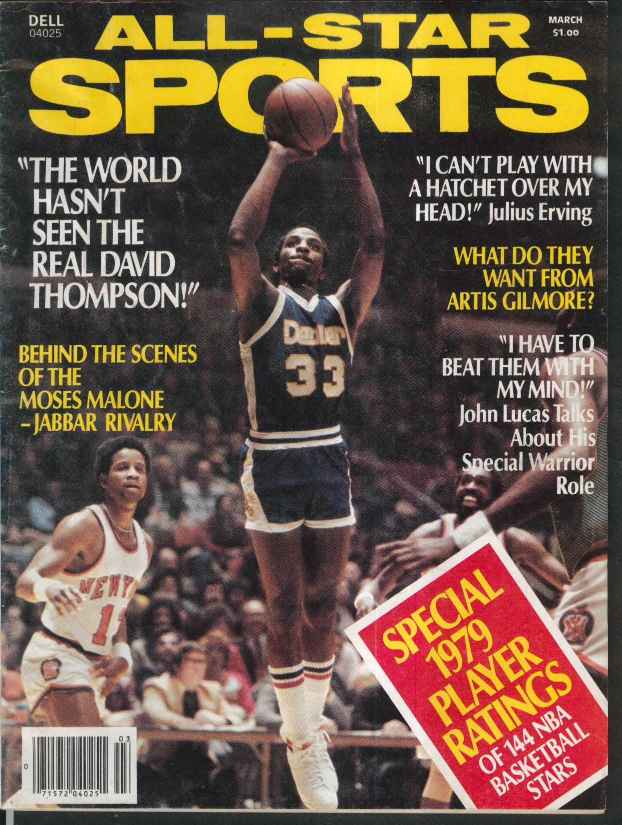 ALL-STAR SPORTS David Thompson Julius Erving Artis Gilmore John Lucas 3 1980