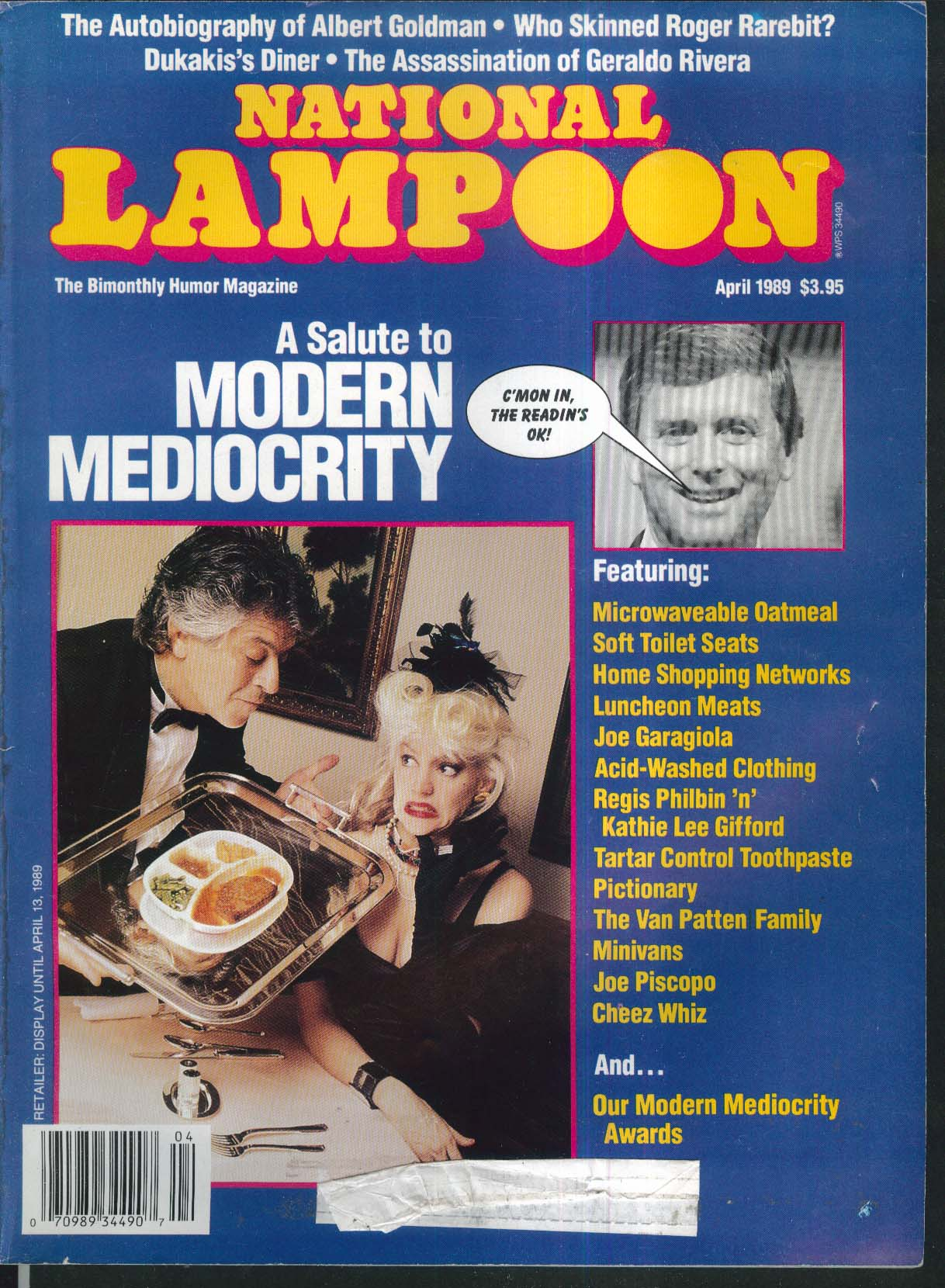 NATIONAL LAMPOON Joe Garagiola Regis Philbin Joe Piscopo Dukakis Geraldo 4 1989