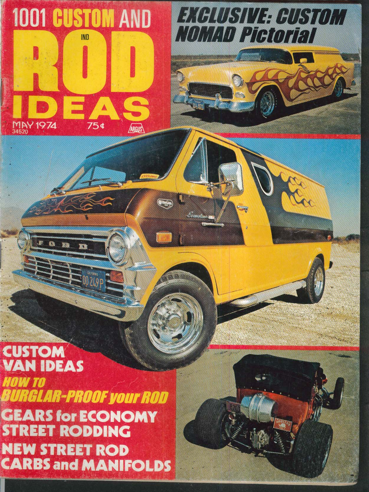 1001 CUSTOM & ROD IDEAS Nomad Pictorial, Vans, Energy Crisis, Denver Show 5 1974