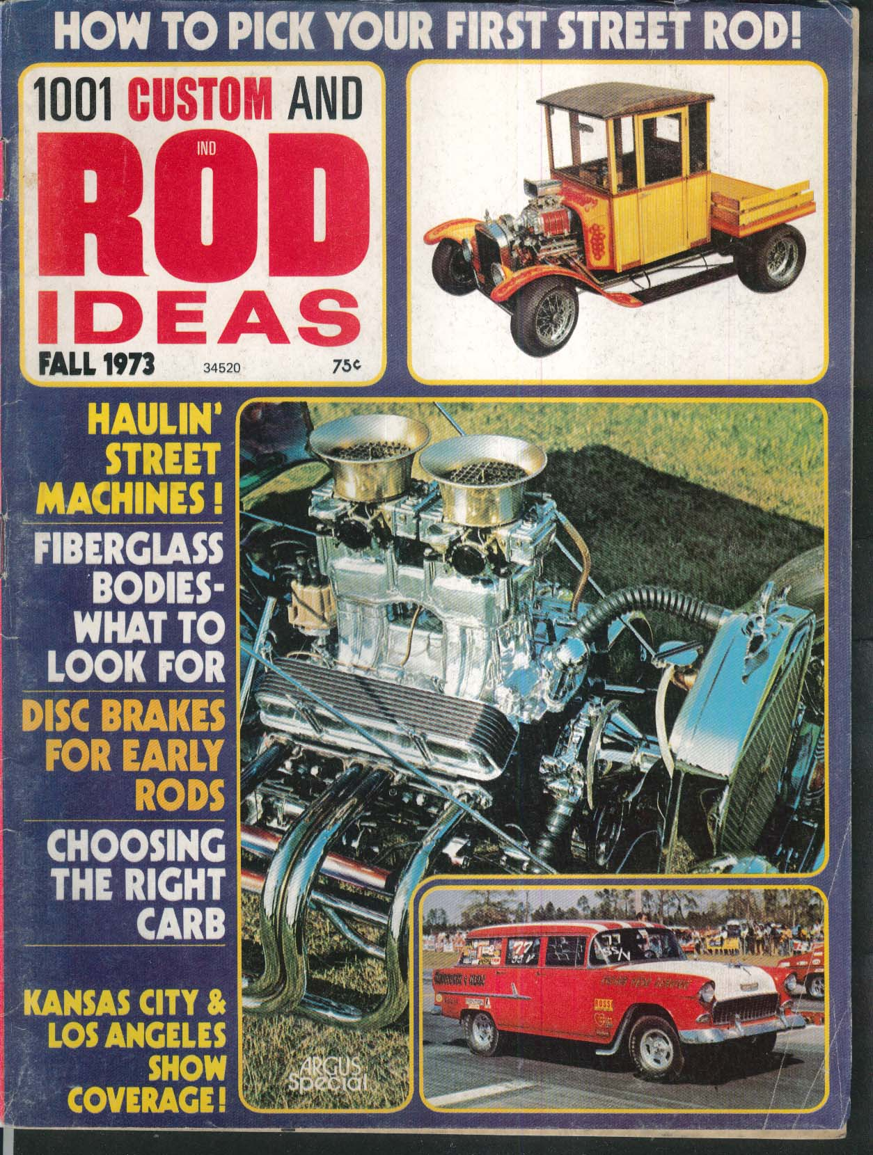 1001 CUSTOM & ROD IDEAS Jag v Corvette Suspension LA Roadster Show ++ Fall 1973