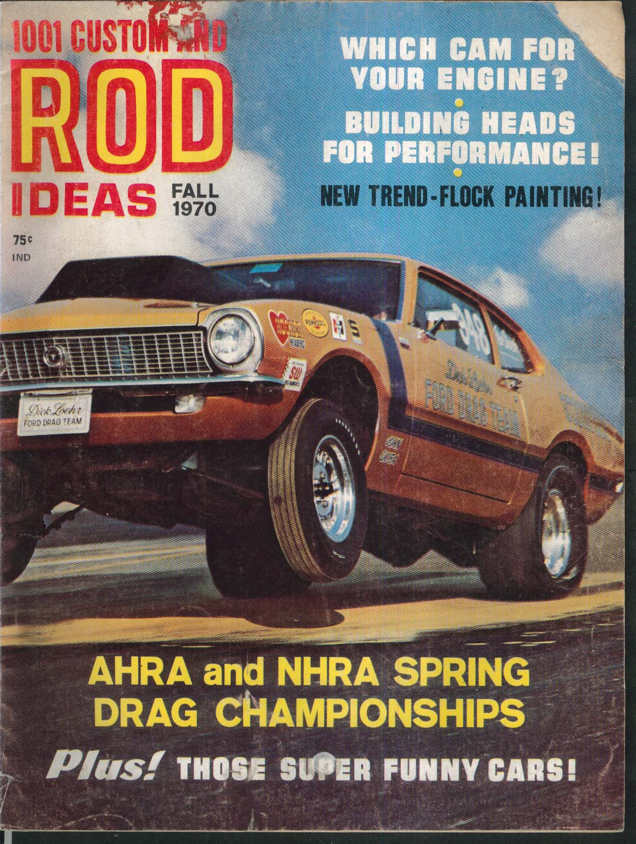 1001 CUSTOM & ROD IDEAS AHRA NHRA Spring Drag Baja VW Dick Loehr 4-4-2 Fall 1970