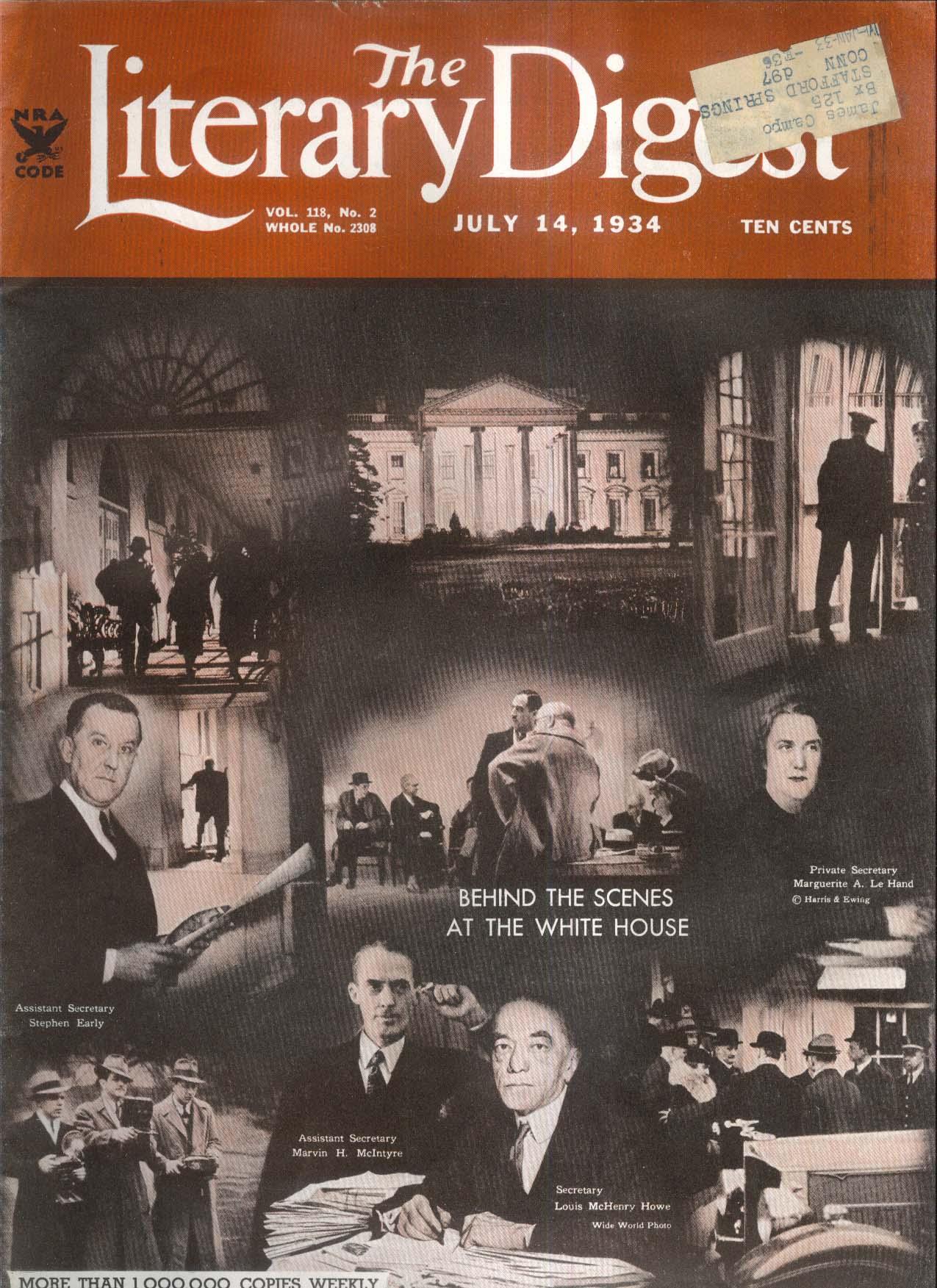 LITERARY DIGEST Nazi New Deal Mooseheart Senator Lewis Keisuke Okada 7/14 1934