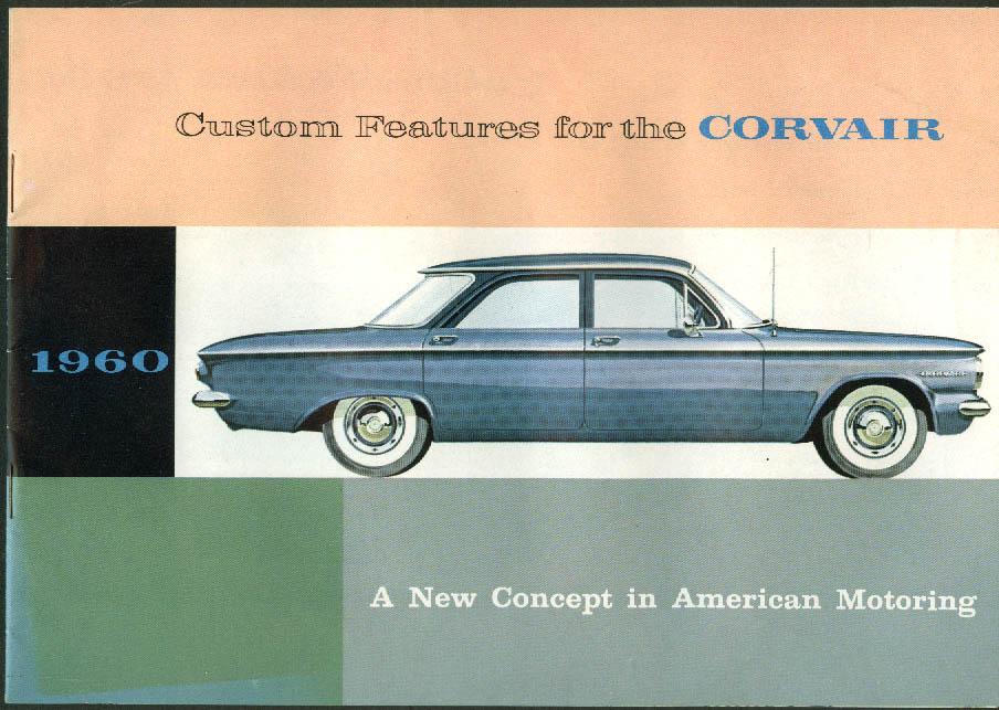 1960 Chevrolet Corvair Custom Features Accessories sales brochure