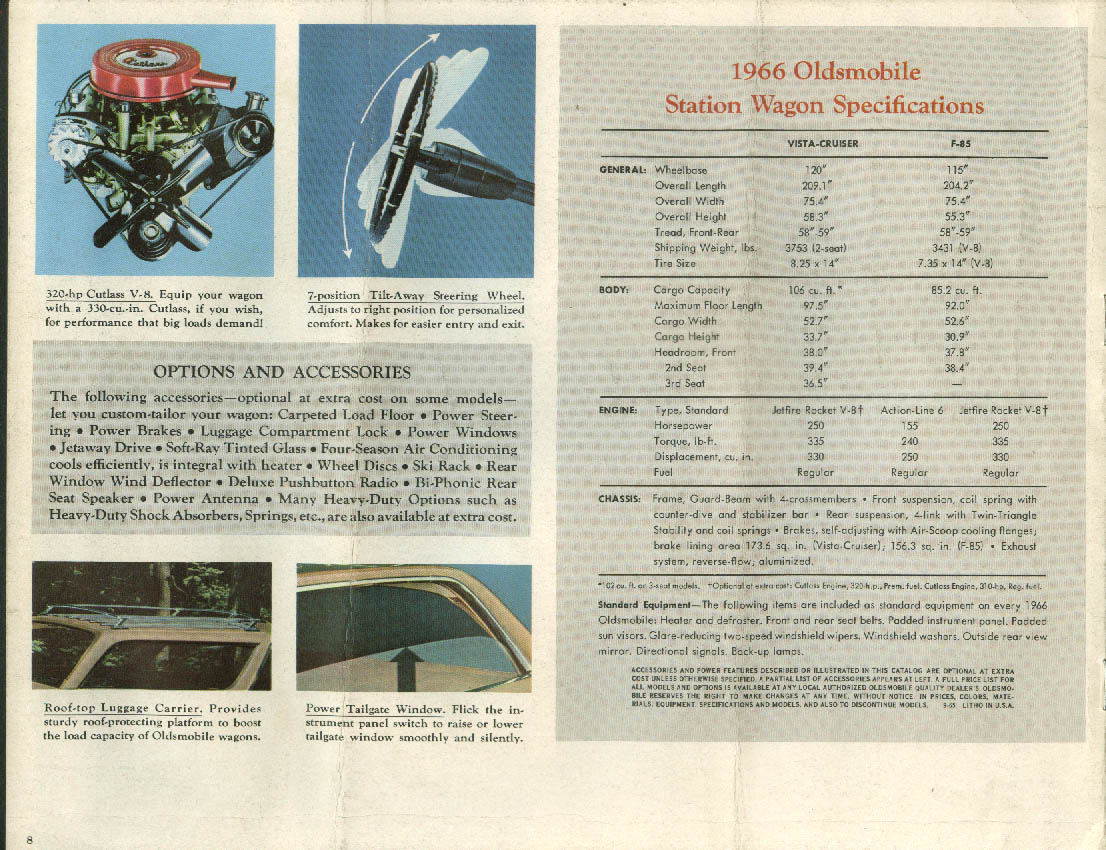 1966 Oldsmobile Station Wagons brochure Vista-Cruiser F-85