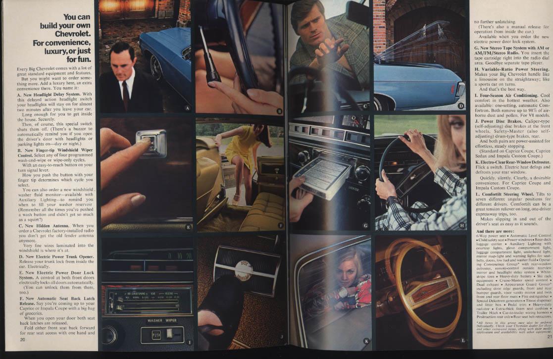 1970 Chevrolet Caprice Impala Bel Air sales brochure