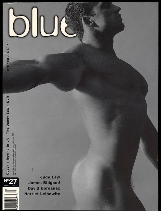 NOT ONLY BLUE Gay male erotica #27 6 2000 Jude Law David Boreanaz Bidgood +